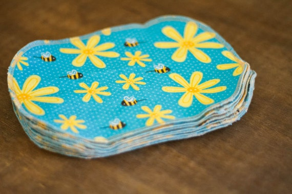 Diaper Cloth Wipes - 10 Print Set - Eco Friendly Reusable Cloth Wipes