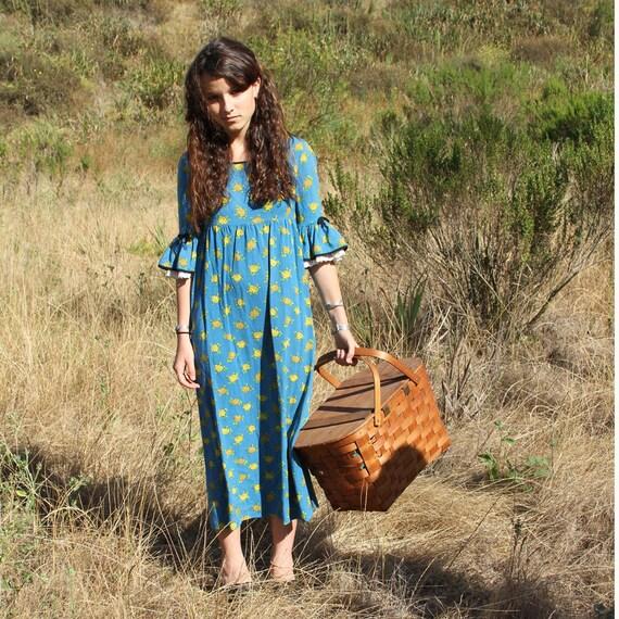 Vintage 1970s Dress Hippie Boho Dress