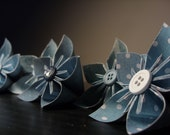 "Sample Package for ""mlvalley"" - Six Blue Origami Paper Flowers"