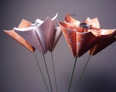 Reserved Order (Half) for faerielux - (200) Orange, Cream, and Charcoal Bouquet Flowers