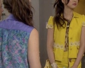 Flower Cuff As Seen on Gossip Girl on Kati Farkas : Blair Waldorf's Minion in Season 5 Finale