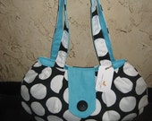 Black White Teal Large Purse Sale