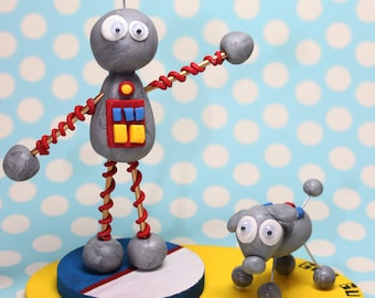 Dancing Robot Birthday Cake Topper
