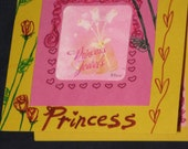 Belle Beauty and the beast Disney princess greeting sentiment birthday girls blank yellow card