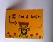 I am a bear kawaii cute blank greeting card