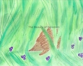 Hedgehog in the Violets