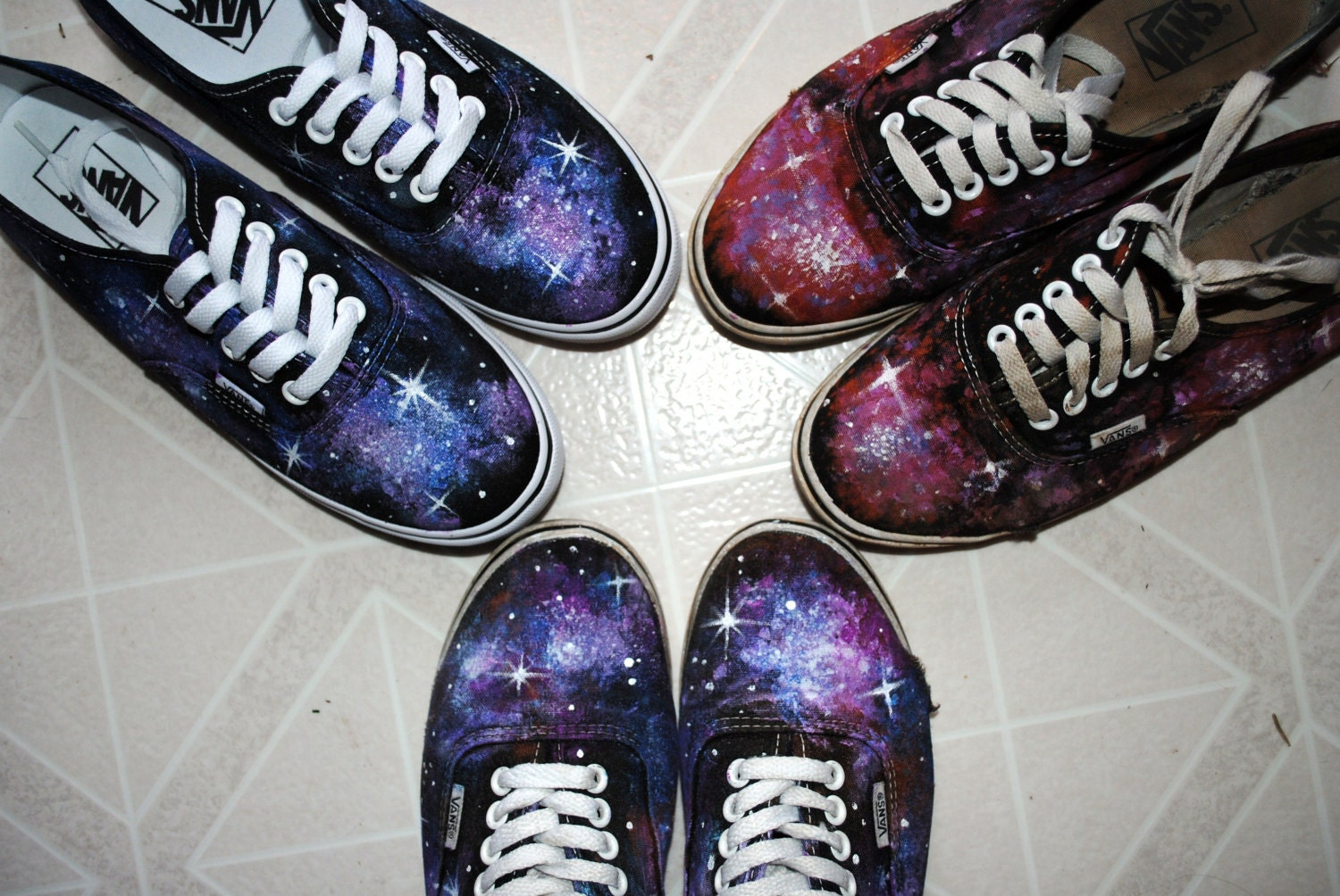Galaxy Shoes Painted Vans Made To Order