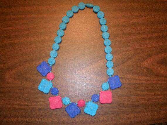 Vintage 1980s African Bead Necklace