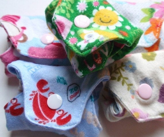 Little Bitty Liners Reusable Cloth Pantyliners Set of 4