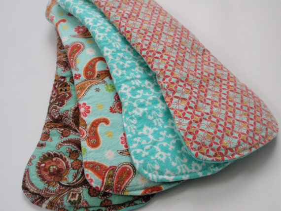 Post Partum Stardom Go Green Mama Reusable Cloth Pads Set of 4 New Design