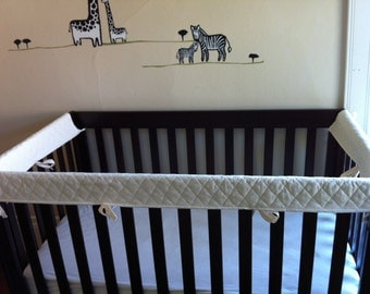 ORGANIC Crib Guards -- 3pc Custom Crib Rail Teething Guards for Baby/Toddler