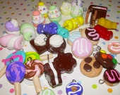Polymer Clay Food Charms - NEW 50 Piece Set
