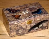 "Butterfly Decoupaged Wooden Box - ""Madame Butterfly"""