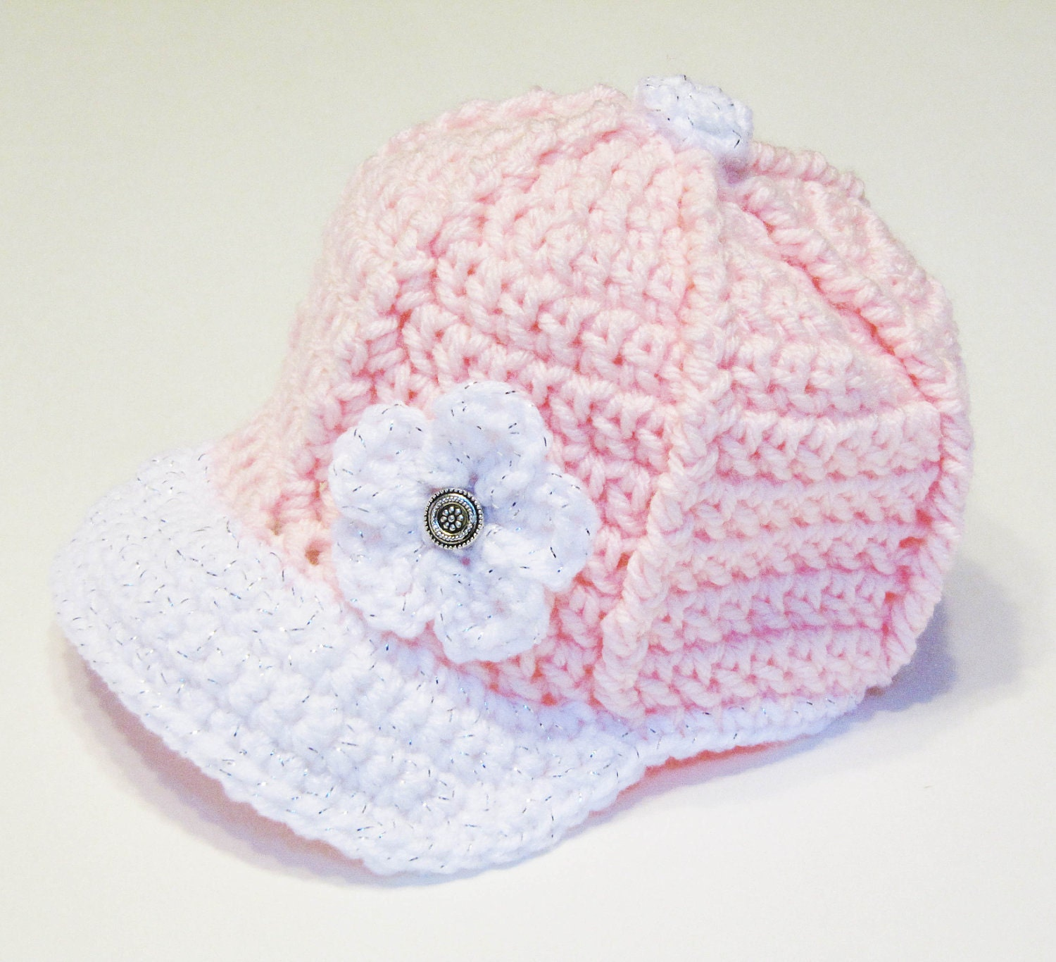 Free Crochet Pattern Newborn Baseball Cap : Crochet Baseball Cap CROCHET PATTERN instant download