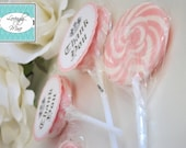 Baby Shower Favor Lollipops - Baby Couture - Pink - Set of 12 - Juicy Couture Inspired