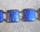 Vintage David-Andersen Blue Enamelled Sterling Norwegian Bracelet