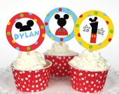 Printable Inspired Mickey Mouse Clubhouse tags or toppers