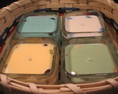 Elemental Series Soy Candles:  Gift Set of Four with Gift Basket