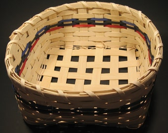 Hand Woven Four Elements Reed Basket
