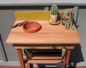 Potting Bench (Sm) Cedar, Mustard Green