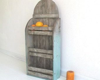 Primitive Cubby Shelf - Distressed Reclaimed Wood