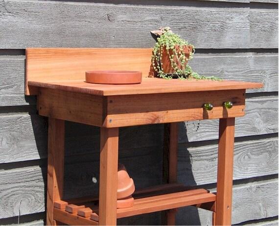 Items Similar To Potting Bench Sm Cedar Terra Cotta Pot On Etsy