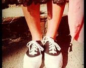 Black & White Kinney Saddle Shoes