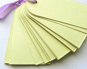 Pale Yellow Tags (Set of 30)