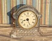 Clock / Crystal Legends Quartz / Mantel Piece / Art Deco / Hollywood Regency  / Vintage
