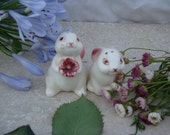 Vintage Bunny Salt and Pepper Shakers
