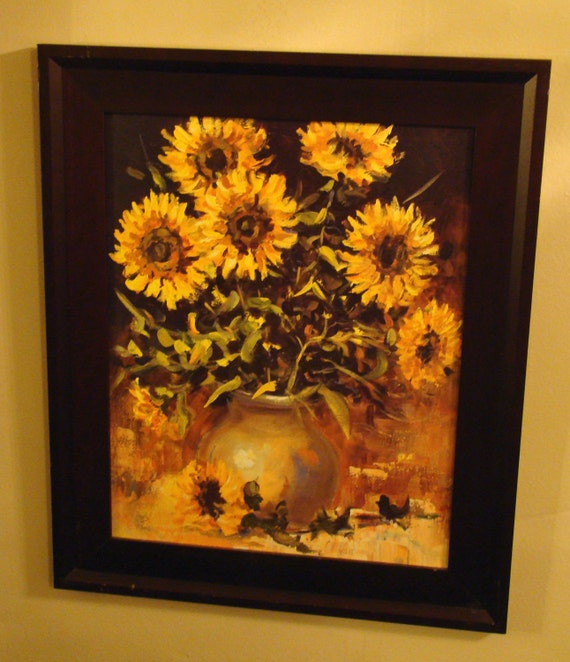 Vintage Sunflower Wall Decor : Art sunflowers vintage wall hanging
