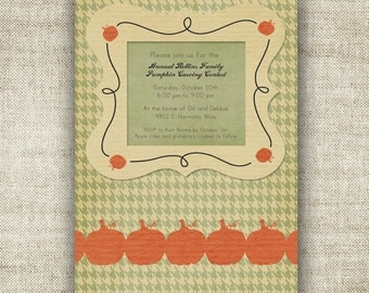 Halloween Invitation Party Little Pumpkin Baby Shower Digital Printable Cards Pumpkin Carving Adult Teen or Child Party - 81488903