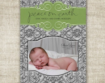 Peace On Earth Christmas HOLIDAY Cards Family Picture Customizable Printable Digital HOLIDAY Greeting