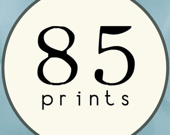 85 PRINTS - SINGLE SIDED Printed Invitations Cards - 86441322