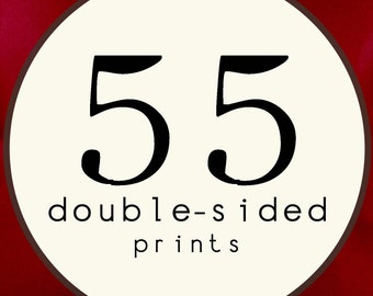 55 PRINTS - DOUBLE SIDED Printed Invitations Cards - 91892029