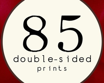 85 PRINTS - DOUBLE SIDED Printed Invitations Cards - 91892506