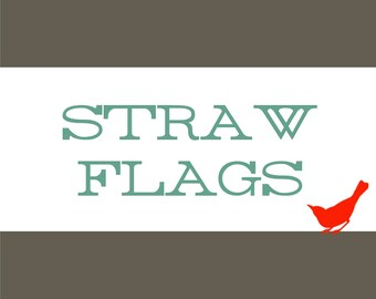 DRINKING STRAW FLAGS Banners Pendants Matching Any Design From Our Gallery Printable Digital File - 95189711