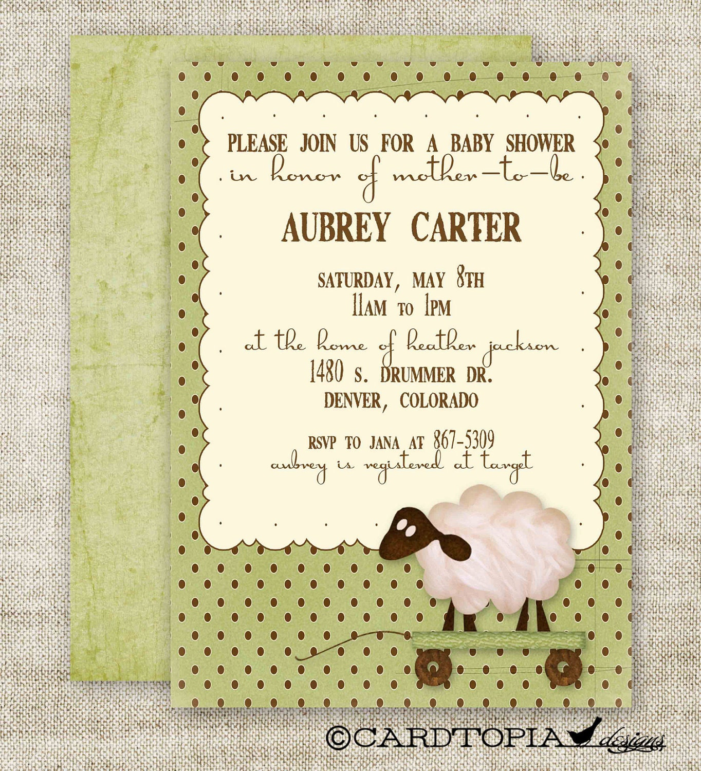 Baby Lamb Invitations as awesome invitation example