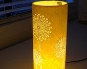Yellow Dandelion Table Lamp / Handmade creation
