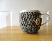 Cozied Mug //  includes both Cozy  AND Mug // Heather Grey -ready-made/ready to ship