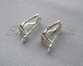High Quality Comfortable Clip On Earring Finding Sterling Silver 925 model ES7