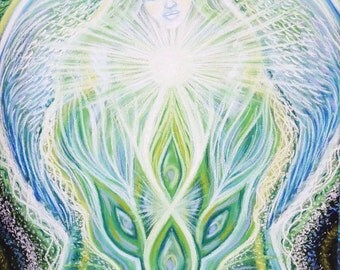"""Angel Opening Heart Chakra -  A3 PRINT """"11.5 x16.5"""" INCHES"""