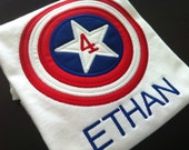 Hero Applique  - Captain America Birthday Shirt