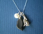 Howl at the Moon Sea Glass Necklace