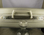 SMALL Ivory with GLITTER SUITCASE with Key