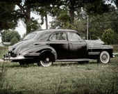 Old Car Photo Print,  1941 Oldsmobile Eight, Hydra-Matic Drive, Black  - 8x10 Fine Art Photograph