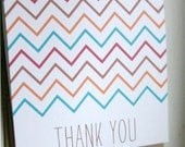 Chevron Thank You Mini Cards, Set of 15