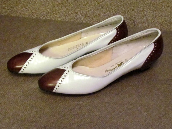 1950 s vintage brown white spectator shoes by