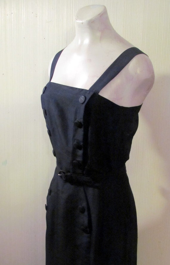 Reserved- 1940's/50's Nautical Navy Blue Wiggle Dress