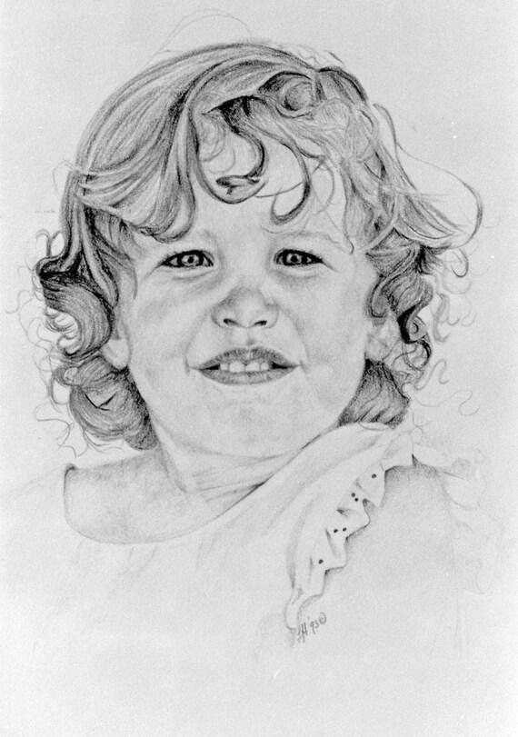 Portrait Commissions Original in watercolor, colored pencil or graphite